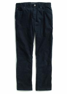 Tommy Hilfiger Men's Adaptive Courduroy Pants Slim Adjustable Waist and Magnet Buttons navy blazer