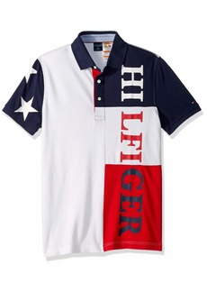 Tommy Hilfiger Men's Adaptive Custom Fit Signature Polo  LG
