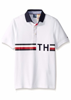 Tommy Hilfiger Men's Adaptive Custom Fit TH Polo  bright white SM