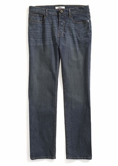 Tommy Hilfiger Men's Adaptive Jeans Relaxed Fit Adjustable Waist Magnet Buttons Dark wash