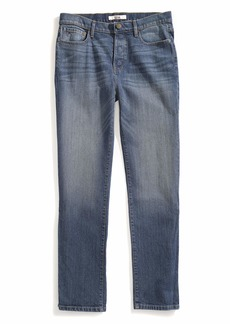 Tommy Hilfiger Men's Adaptive Jeans Relaxed Fit Adjustable Waist Magnet Buttons medium wash
