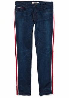 Tommy Hilfiger Men's Adaptive Jeans Slim Tapered Adjustable Waist Magnet Buttons