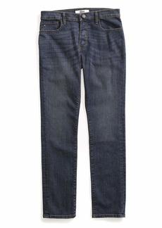 Tommy Hilfiger Men's Adaptive Jeans Straight Adjustable Waist Magnet Buttons Dark wash