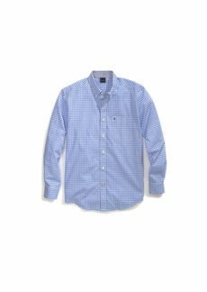 Tommy Hilfiger Men's Adaptive Magnetic Long Sleeve Button Down Shirt Custom Fit Check Blue