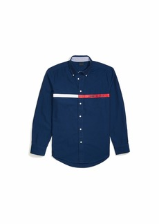 Tommy Hilfiger Men's Adaptive Magnetic Long Sleeve Button Down Shirt Custom Fit XL