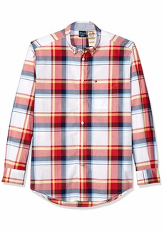 Tommy Hilfiger Men's Adaptive Magnetic Long Sleeve Button Shirt Regular Fit  X Large