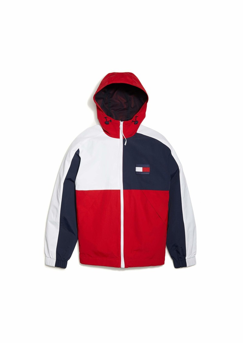 Tommy Hilfiger Men's Adaptive Regatta Jacket with Magnetic Zipper Apple RED MD