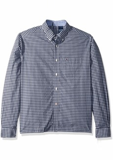 Tommy Hilfiger Men's Adaptive Seated Fit Button Down Shirt with Velcro Brand Back