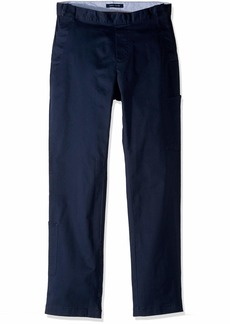 Tommy Hilfiger Men's Adaptive Seated Fit Chino Pants with Elastic Waist and Adjustable Closure navy blazer