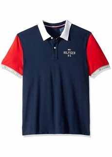 Tommy Hilfiger Men's Adaptive Seated Polo Shirt with Velcro Brand Closure
