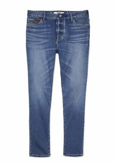 Tommy Hilfiger Men's Adaptive Slim Tapered Jeans with Velcro Brand Closure and Fly Medium WASH