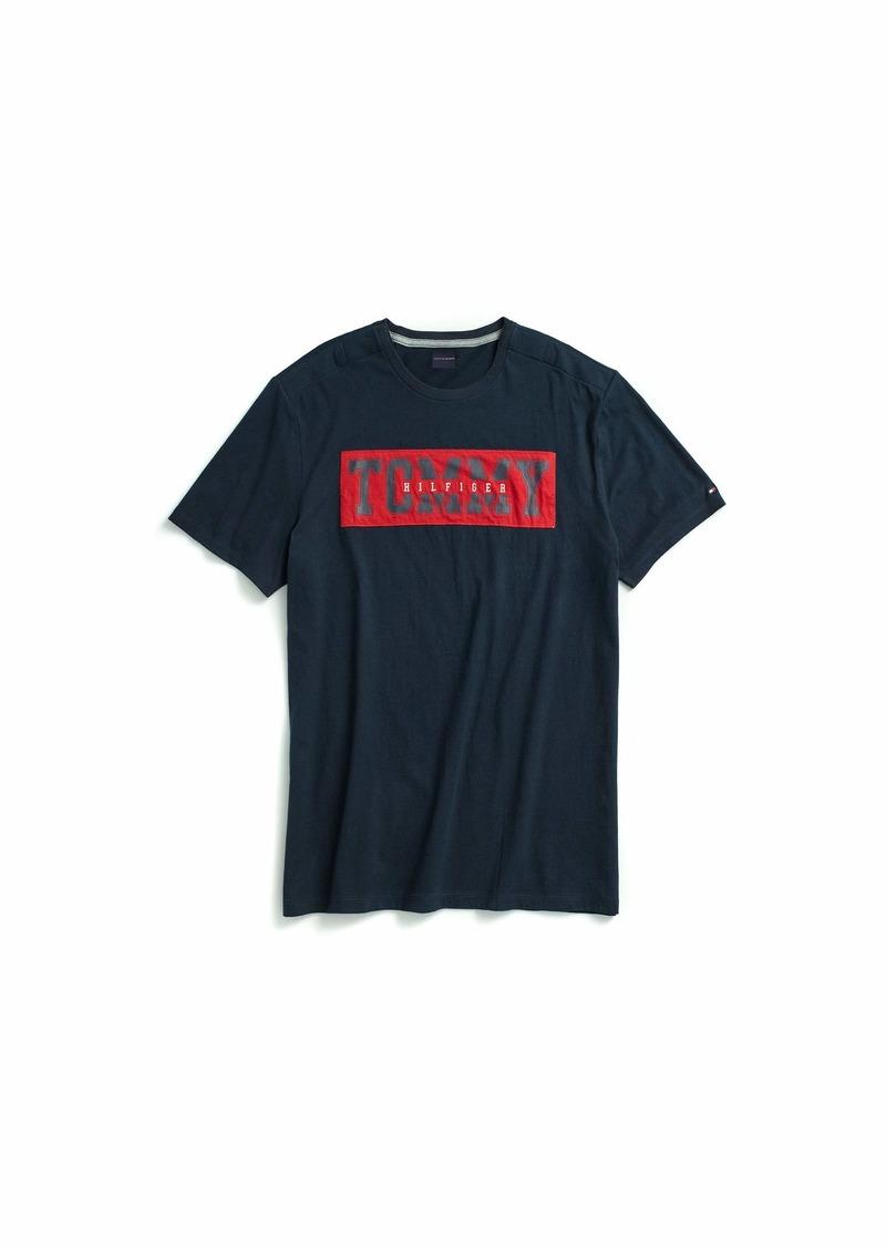 Tommy Hilfiger Men's Adaptive T Shirt with Adjustable Shoulder Closure navy blazer