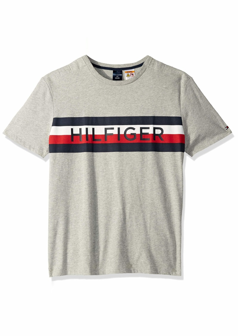 66233689e Tommy Hilfiger Men s Adaptive T Shirt with Magnetic Buttons at Shoulders  Grey Heather b
