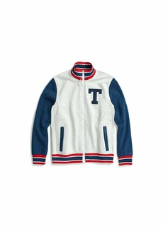 Tommy Hilfiger Men's Adaptive Track Jacket with Magnetic Zipper Ice Grey heather b X Large