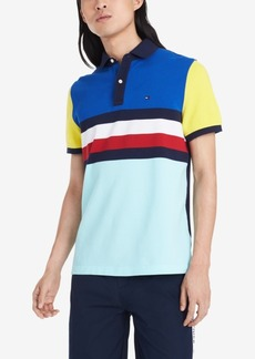 Tommy Hilfiger Men's Archie Custom-Fit Colorblocked Stripe Polo