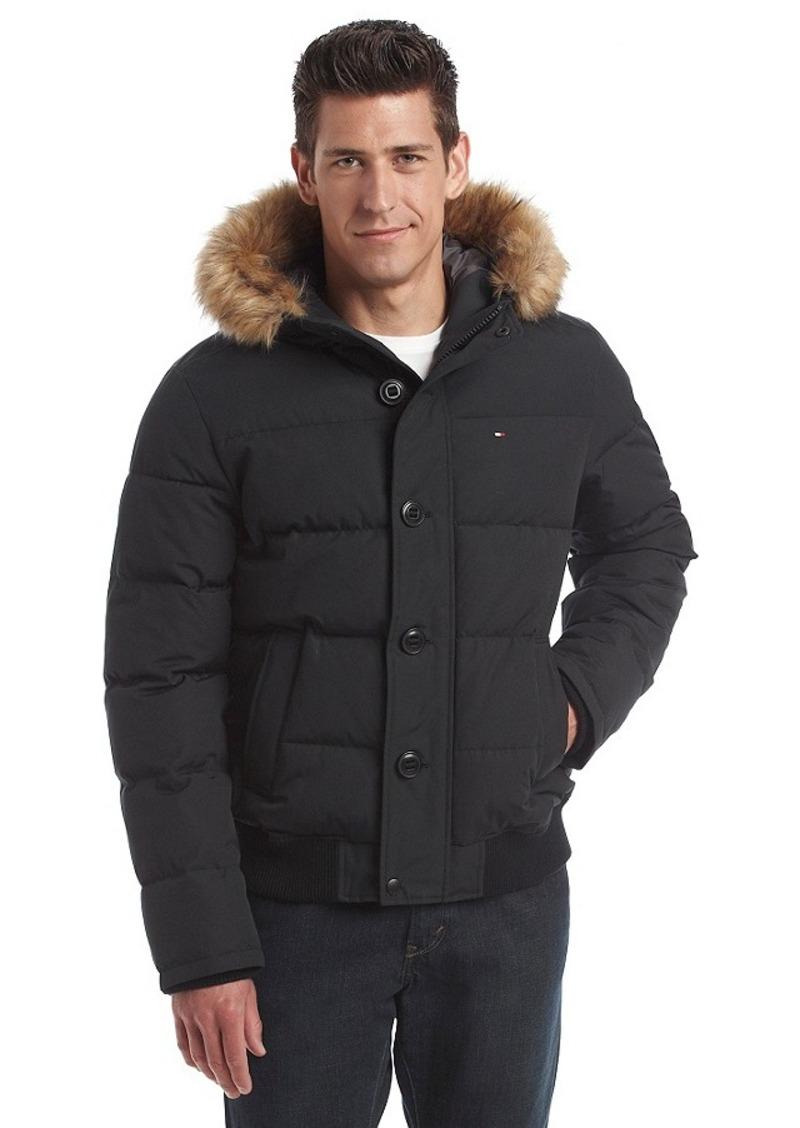 43080c91 Tommy Hilfiger® Men's Artic Cloth Shortie Snorkel Hooded Bomber Jacket