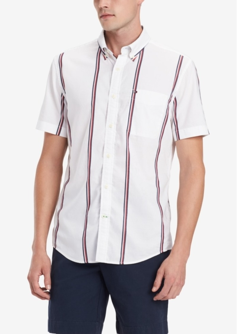 Tommy Hilfiger Men's Ash Stripe Shirt, Created for Macy's