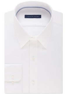 Tommy Hilfiger Men's Athletic Fit Performance Stretch Flex Collar Solid Dress Shirt, Created for Macy's
