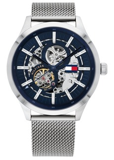 Tommy Hilfiger Men's Automatic Stainless Steel Mesh Bracelet Watch 44mm, Created for Macy's