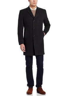 Tommy Hilfiger Men's Barnes 38 Inch Single Breasted Cashmere Blend Coat   Regular
