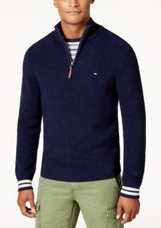 Tommy Hilfiger Men's Barney Knit Quarter-Zip Sweater