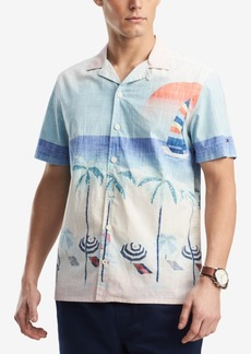 Tommy Hilfiger Men's Beach-Print Shirt, Created for Macy's