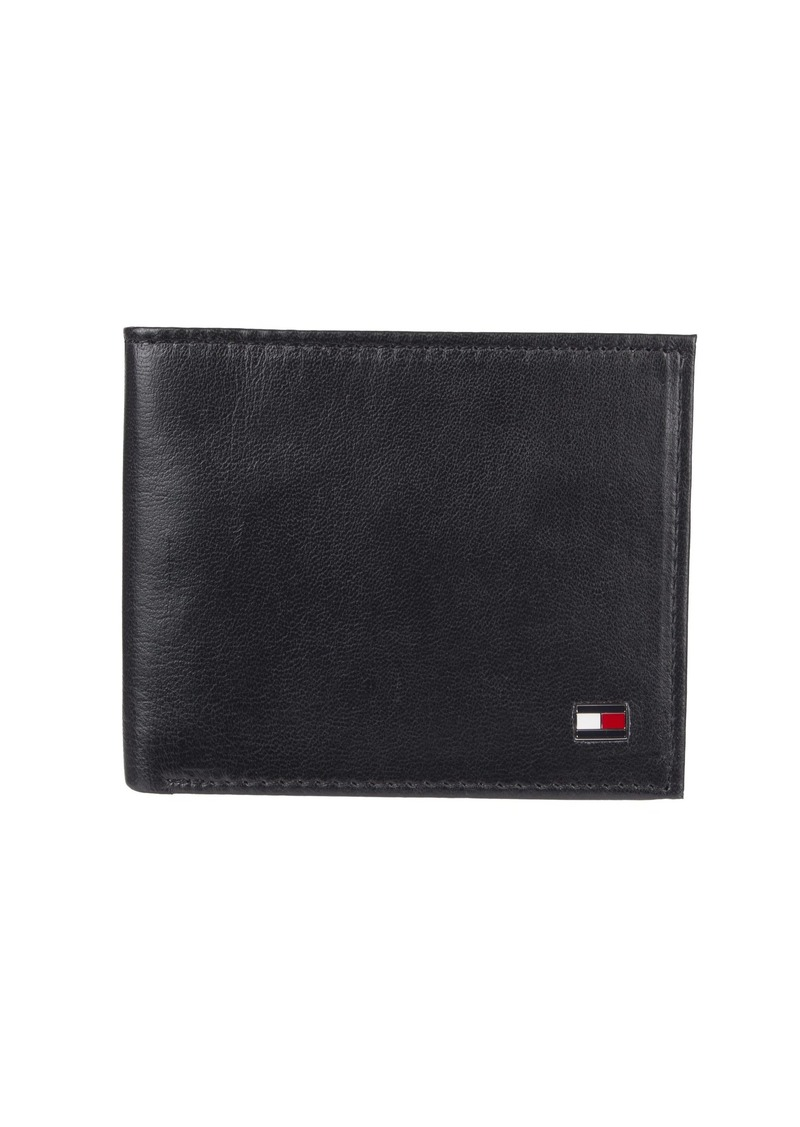 Tommy Hilfiger Men's Bifold Wallet - Leather Slim Thin Classic Billfold for Men with Credit Card Slots