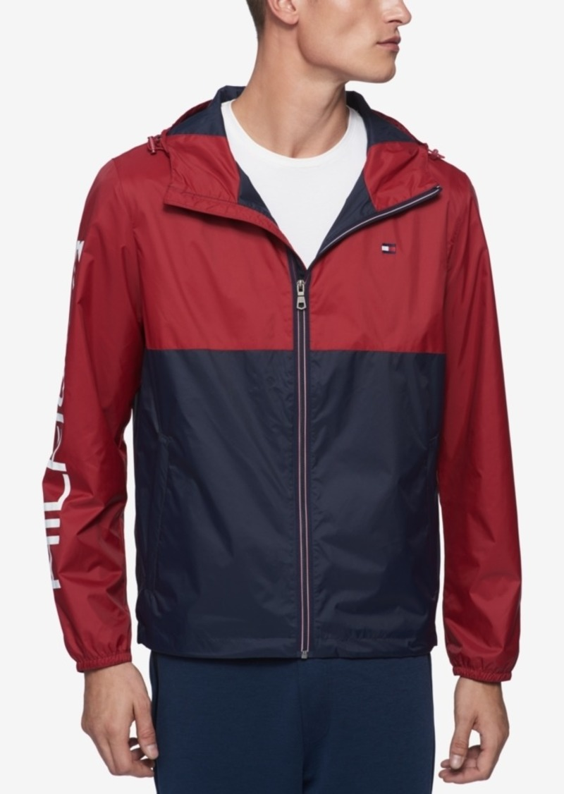 various kinds of 50% price great variety styles Men's Big & Tall Colorblocked Logo-Print Raincoat