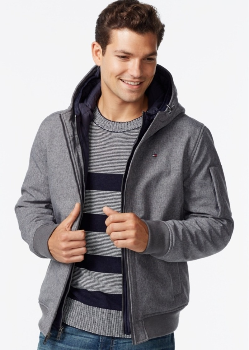 fc3477e0641 Tommy Hilfiger Tommy Hilfiger Men s Big   Tall Double-Layer Hooded ...