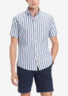 Tommy Hilfiger Men's Custom-Fit Nico Vertical Stripe Shirt, Created for Macy's