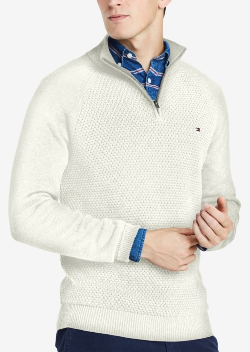 0ba15b171 Tommy Hilfiger Tommy Hilfiger Men s Big   Tall Quarter-Zip Sweater ...