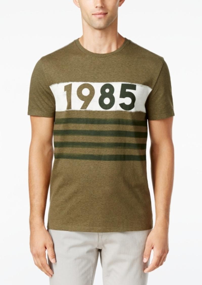 32737b18 Men's Big & Tall Track Runner Stripe Graphic-Print T-Shirt. Tommy Hilfiger