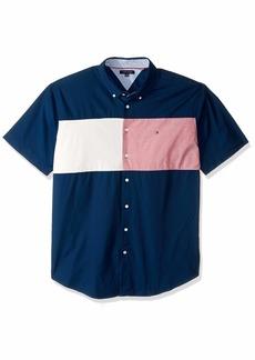 Tommy Hilfiger Men's Big and Tall Button Down Short Sleeve Shirt Oxford  4XL