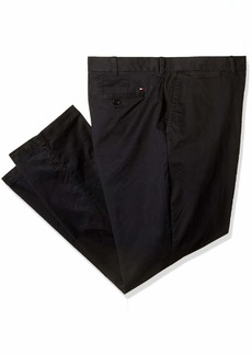 Tommy Hilfiger Men's Big and Tall Classic Fit Stretch Chino Pants cs deep Knit Blue 46X30