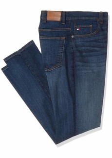 Tommy Hilfiger Men's Big and Tall Jeans Relaxed Fit Dark wash 42X38