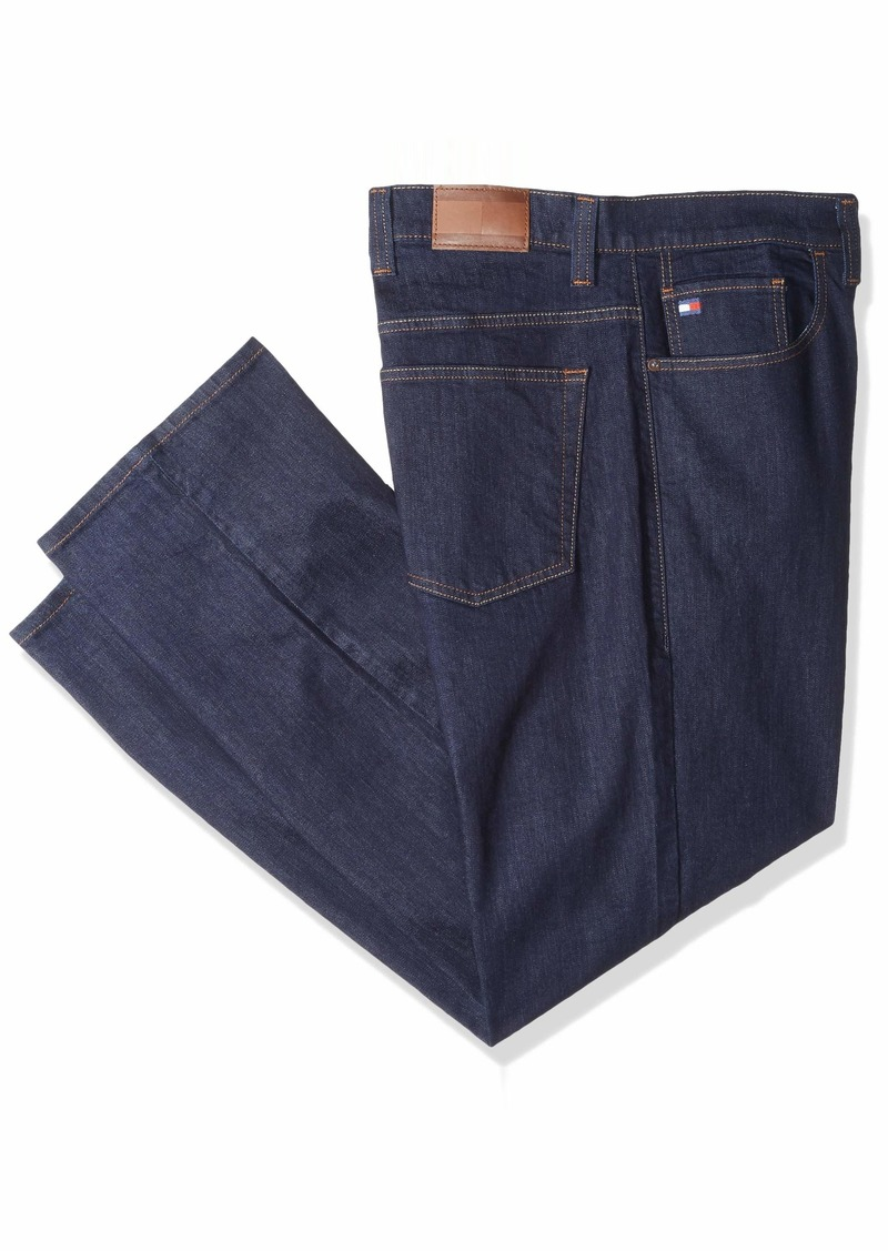 Tommy Hilfiger Men's Big and Tall Jeans Straight Fit  38X36