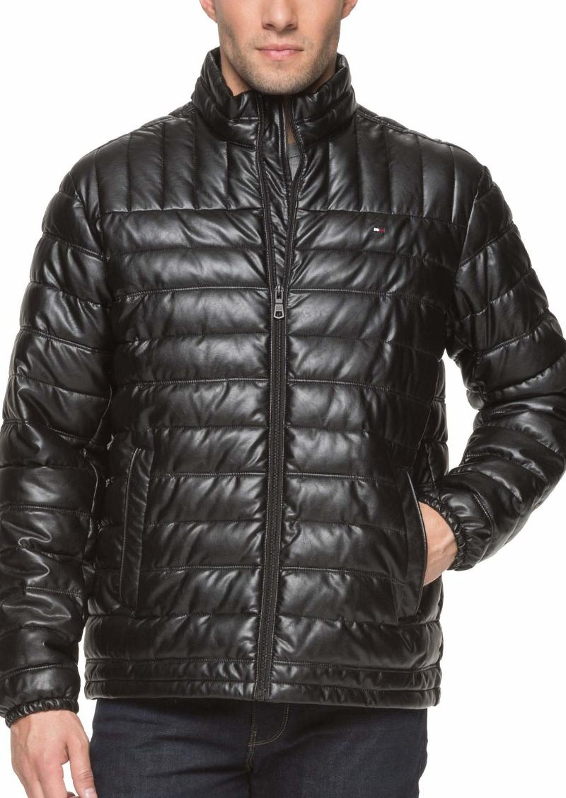 Tommy Hilfiger Men's Lightweight Quilted Faux Leather Puffer Jacket  XXL