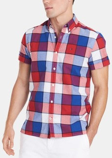 Tommy Hilfiger Men's Custom Fit Plaid Shirt, Created for Macy's