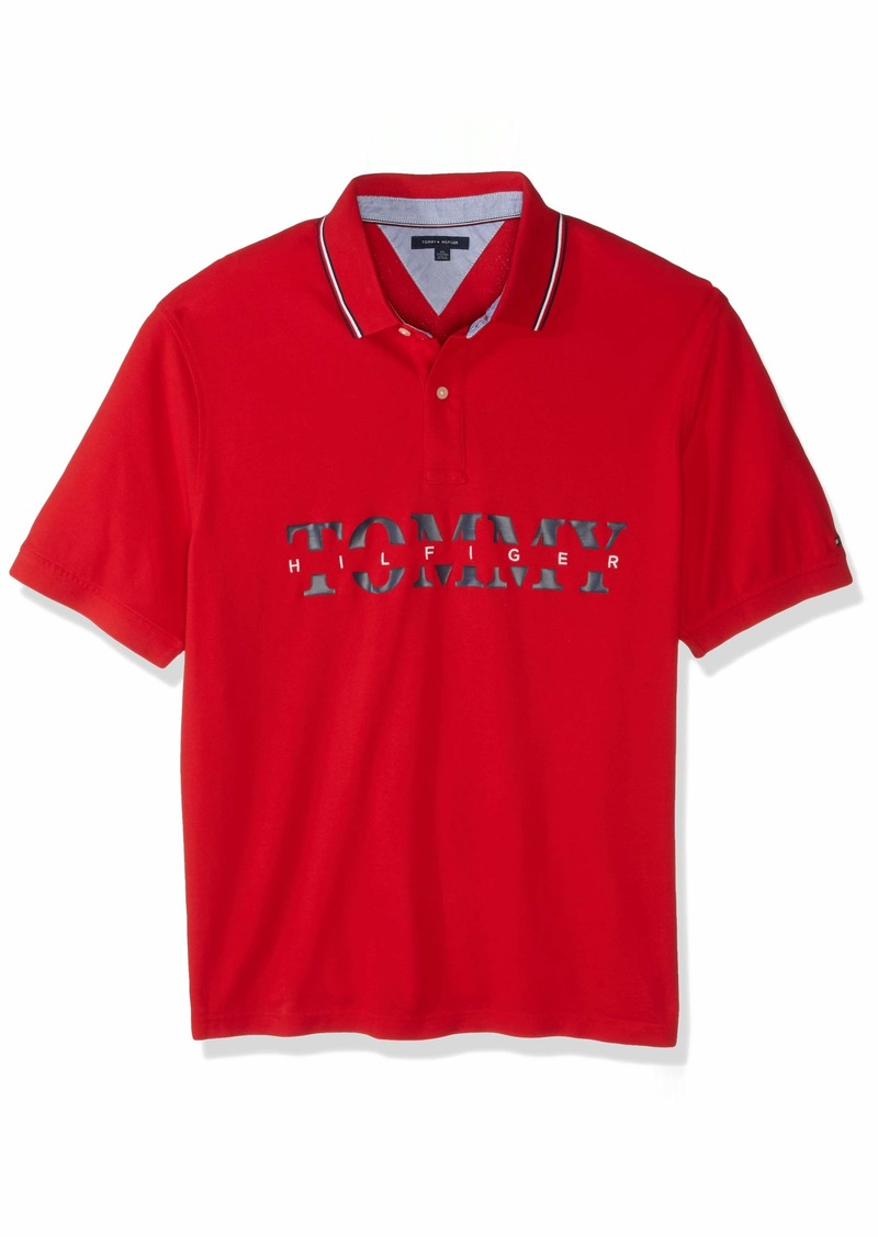 Tommy Hilfiger Men's Big and Tall Polo Shirt Custom Fit  5XL