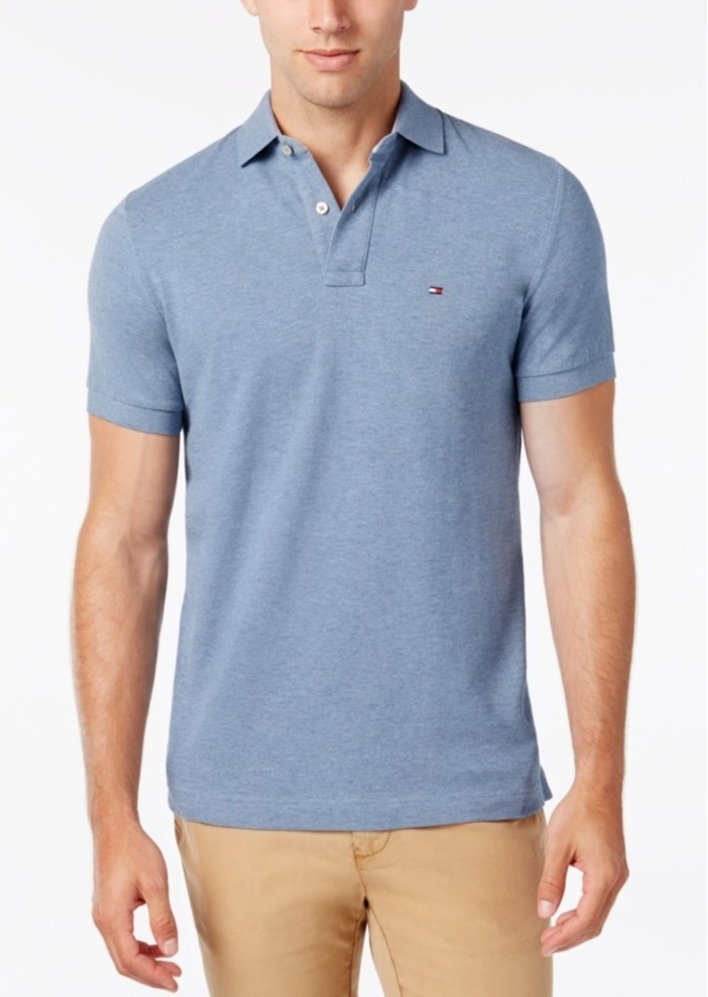 Tommy Hilfiger Men's Big and Tall Solid Classic Fit Ivy Polo