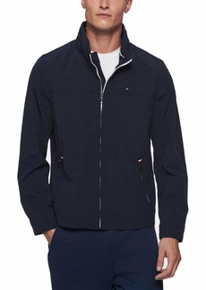 Tommy Hilfiger Men's Big and Tall Stand Collar Lightweight Yachting Jacket navy 3XT