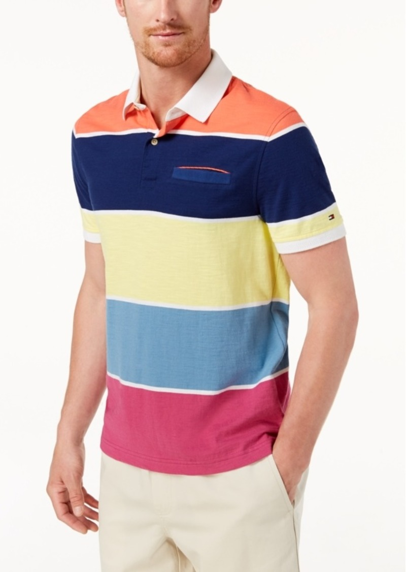 Men's Hale Colorblock Long Sleeve Polo Rugby Shirt, Created for Macy's