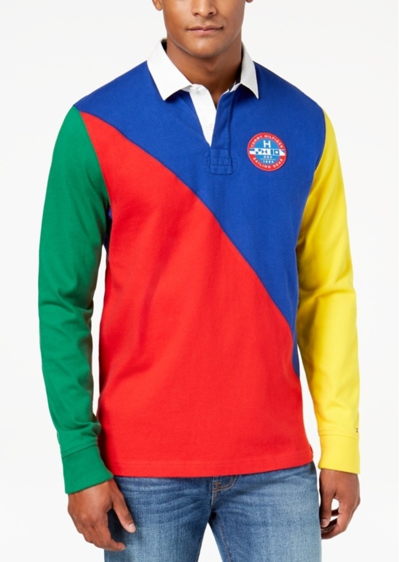 5bb6bcaf8e3d Tommy Hilfiger Tommy Hilfiger Men s Boomer Colorblocked Polo ...