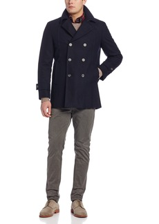 Tommy Hilfiger Men's Brady Double Breasted Peacoat  42/Small