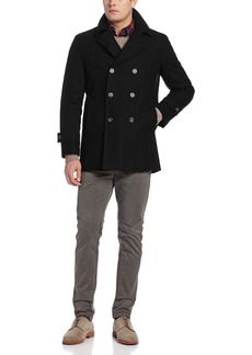 Tommy Hilfiger Men's Brady Double Breasted Peacoat  46/Large