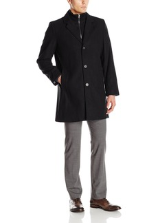 Tommy Hilfiger Men's Bruce 36-Inch Single-Breasted Top Coat with Bib