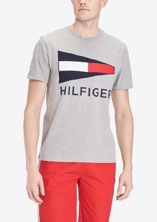 Tommy Hilfiger Men's Big and Tall Bulkhead Logo Graphic T-Shirt