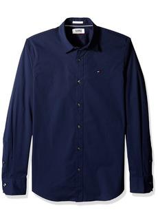 Tommy Hilfiger Men's Button Down Shirt Original Stretch Black iris