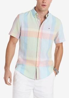 Tommy Hilfiger Men's Caldwell Custom-Fit Pastel Plaid Shirt