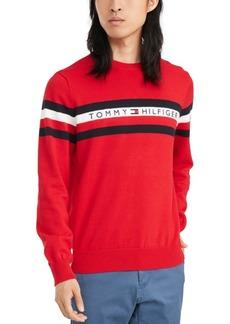Tommy Hilfiger Men's Casper Regular-Fit Stripe Embroidered Logo Sweater